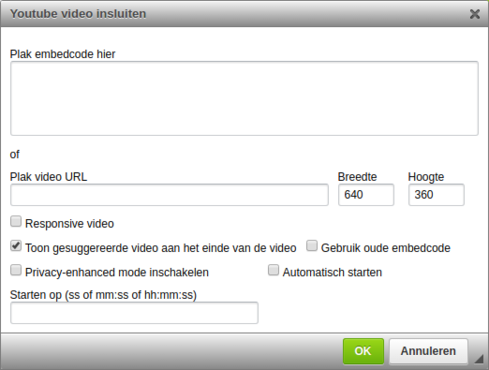 youtube video insluiten